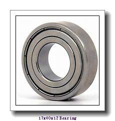 17 mm x 40 mm x 12 mm  NACHI 6203-2NSE deep groove ball bearings