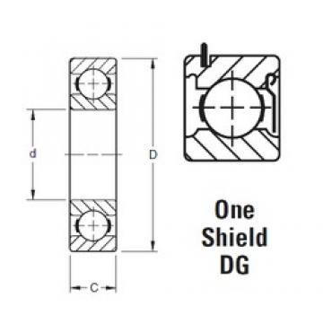 17 mm x 40 mm x 12 mm  Timken 203KDG deep groove ball bearings