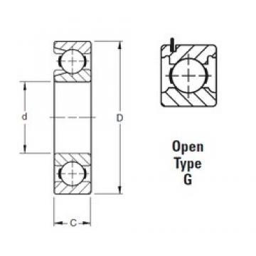 110 mm x 240 mm x 50 mm  Timken 322WG deep groove ball bearings