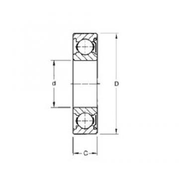 17 mm x 40 mm x 12 mm  Timken 203KD deep groove ball bearings