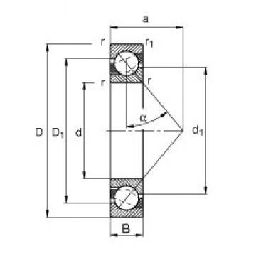 110 mm x 240 mm x 50 mm  FAG 7322-B-TVP angular contact ball bearings