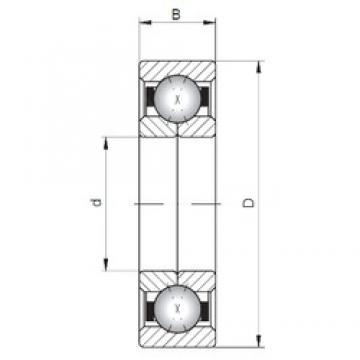 ISO QJ203 angular contact ball bearings