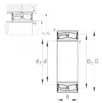 170 mm x 260 mm x 90 mm  FAG 24034-E1-2VSR-H40 spherical roller bearings