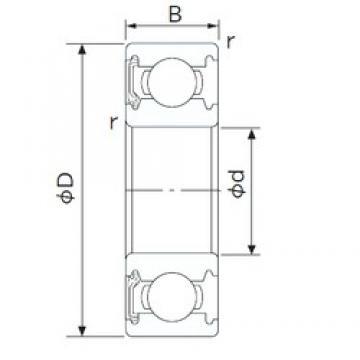 17 mm x 40 mm x 12 mm  NACHI 6203NKE deep groove ball bearings