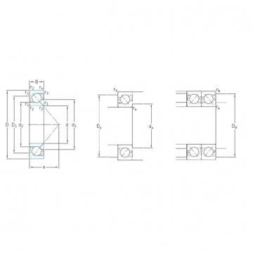 110 mm x 240 mm x 50 mm  SKF 7322BECBM angular contact ball bearings