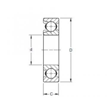 110 mm x 240 mm x 50 mm  Timken 322W deep groove ball bearings