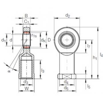 17 mm x 30 mm x 14 mm  INA GIR 17 UK plain bearings