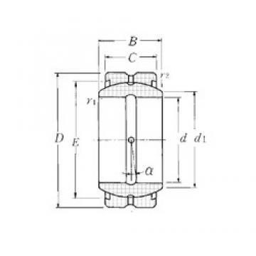 17 mm x 30 mm x 14 mm  NTN SA1-17B plain bearings