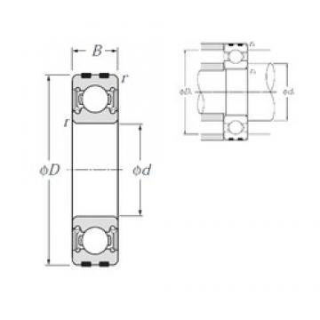 17 mm x 40 mm x 12 mm  NTN EC-6203LLU deep groove ball bearings