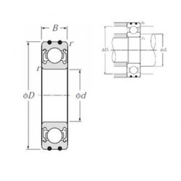 17 mm x 40 mm x 12 mm  NTN AC-6203ZZ deep groove ball bearings