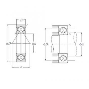 110 mm x 240 mm x 50 mm  NTN QJ322 angular contact ball bearings