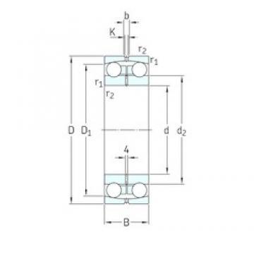 180 mm x 280 mm x 74 mm  SKF 13036 self aligning ball bearings