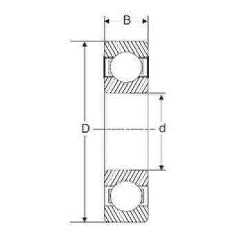 110 mm x 240 mm x 50 mm  SIGMA 6322 deep groove ball bearings