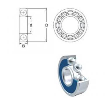 17 mm x 40 mm x 12 mm  ZEN 6203-2RS deep groove ball bearings