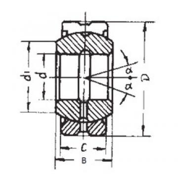 17 mm x 30 mm x 14 mm  FBJ GE17ES-2RS plain bearings