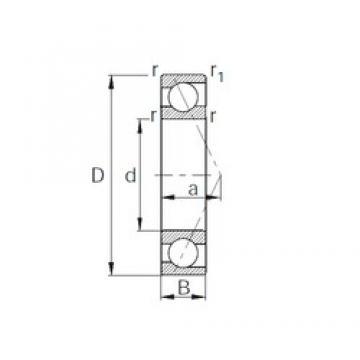 17 mm x 40 mm x 12 mm  CYSD 7203B angular contact ball bearings