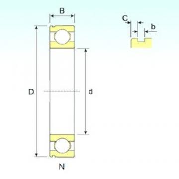 17 mm x 40 mm x 12 mm  ISB 6203 N deep groove ball bearings
