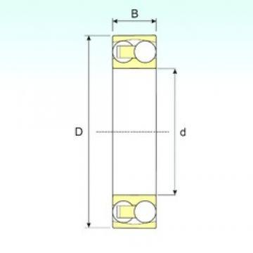 110 mm x 240 mm x 50 mm  ISB 1322 M self aligning ball bearings