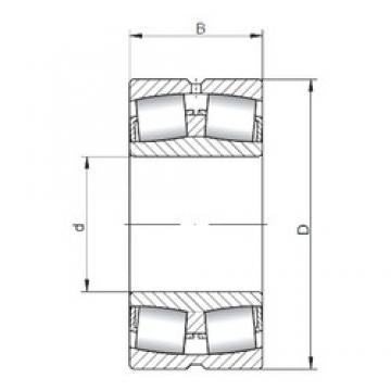 180 mm x 280 mm x 74 mm  ISO 23036W33 spherical roller bearings