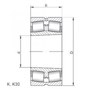180 mm x 280 mm x 74 mm  ISO 23036 KW33 spherical roller bearings