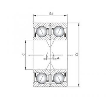 Loyal 71903 C-UX angular contact ball bearings