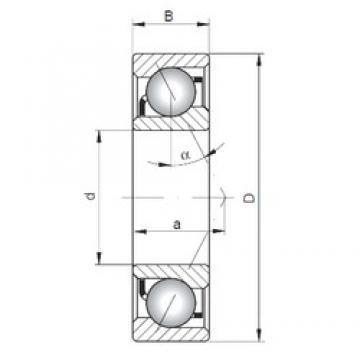 110 mm x 240 mm x 50 mm  Loyal 7322 B angular contact ball bearings