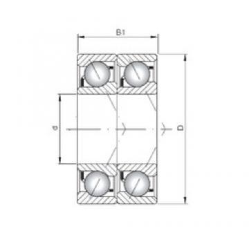 Loyal 71903 C-UD angular contact ball bearings