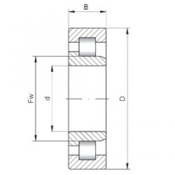 190 mm x 400 mm x 132 mm  Loyal NJ2338 E cylindrical roller bearings
