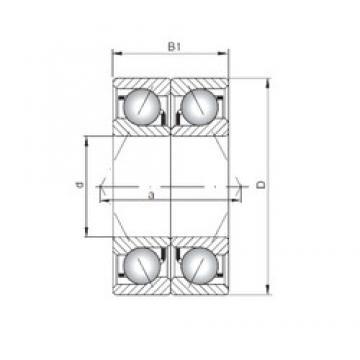 Loyal 71903 C-UO angular contact ball bearings