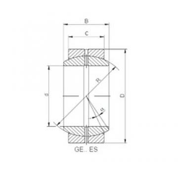 17 mm x 30 mm x 14 mm  ISO GE 017 ES-2RS plain bearings