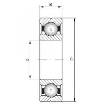 ISO Q322 angular contact ball bearings