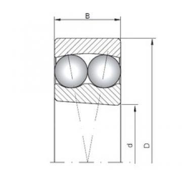 110 mm x 240 mm x 50 mm  ISO 1322K self aligning ball bearings