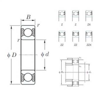110 mm x 240 mm x 50 mm  KOYO 6322ZZX deep groove ball bearings