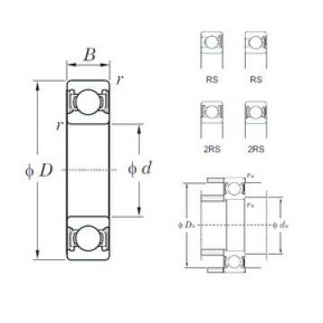 110 mm x 240 mm x 50 mm  KOYO 6322-2RS deep groove ball bearings