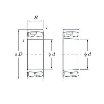 190 mm x 400 mm x 132 mm  KOYO 22338RHA spherical roller bearings