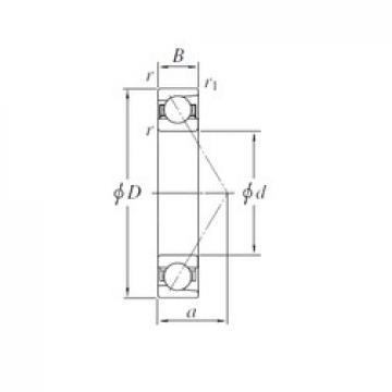 110 mm x 240 mm x 50 mm  KOYO 7322 angular contact ball bearings