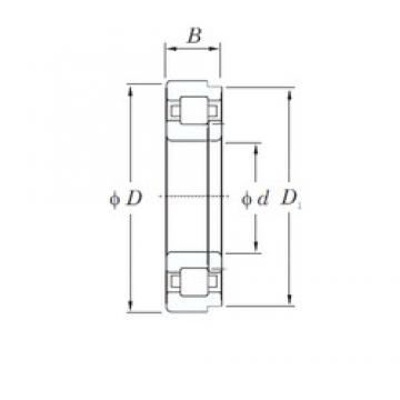 110 mm x 240 mm x 50 mm  KOYO NUP322R cylindrical roller bearings