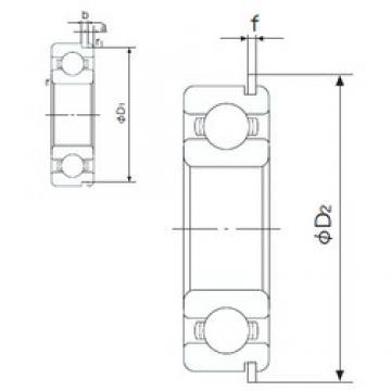 17 mm x 40 mm x 12 mm  NACHI 6203NR deep groove ball bearings