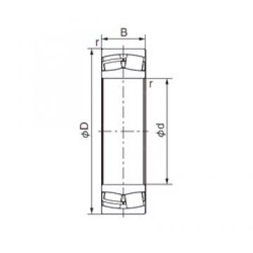 180 mm x 280 mm x 74 mm  NACHI 23036E cylindrical roller bearings