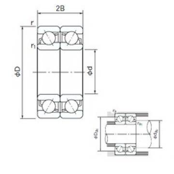 17 mm x 40 mm x 12 mm  NACHI 7203CDF angular contact ball bearings