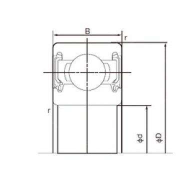 17 mm x 40 mm x 12 mm  NACHI 6203-2NKE9 deep groove ball bearings