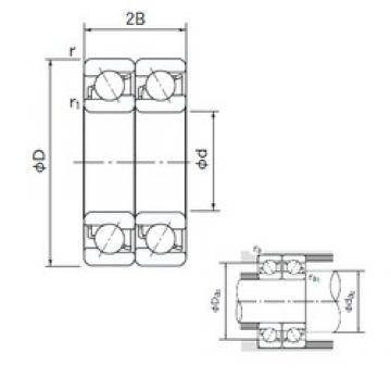 110 mm x 240 mm x 50 mm  NACHI 7322BDT angular contact ball bearings