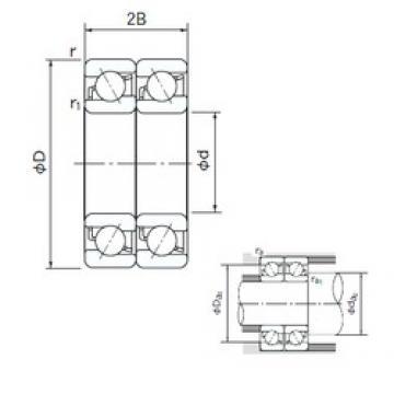 110 mm x 240 mm x 50 mm  NACHI 7322DT angular contact ball bearings