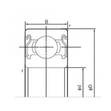 110 mm x 240 mm x 50 mm  NACHI 6322ZZ deep groove ball bearings