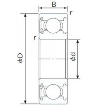 17 mm x 40 mm x 12 mm  CYSD 6203-RS deep groove ball bearings