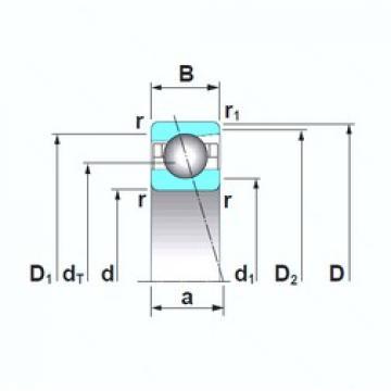 17 mm x 40 mm x 12 mm  NSK 7203CTRSU angular contact ball bearings