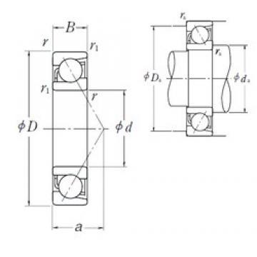 17 mm x 40 mm x 12 mm  NSK 7203 A angular contact ball bearings