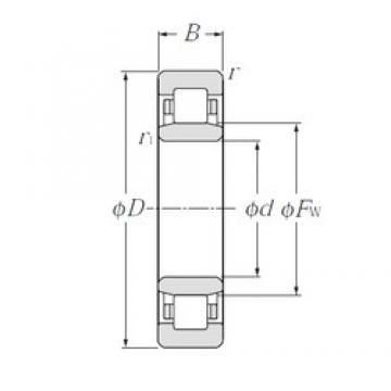 110 mm x 240 mm x 50 mm  NTN NU322E cylindrical roller bearings
