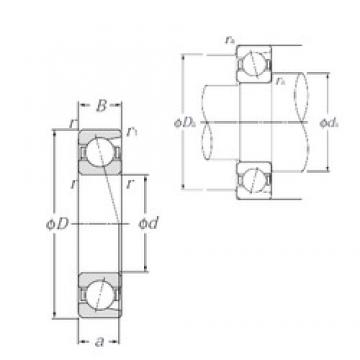 17 mm x 40 mm x 12 mm  NTN 7203 angular contact ball bearings