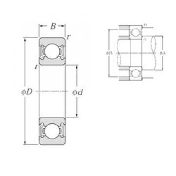 110 mm x 240 mm x 50 mm  NTN 6322LLU deep groove ball bearings